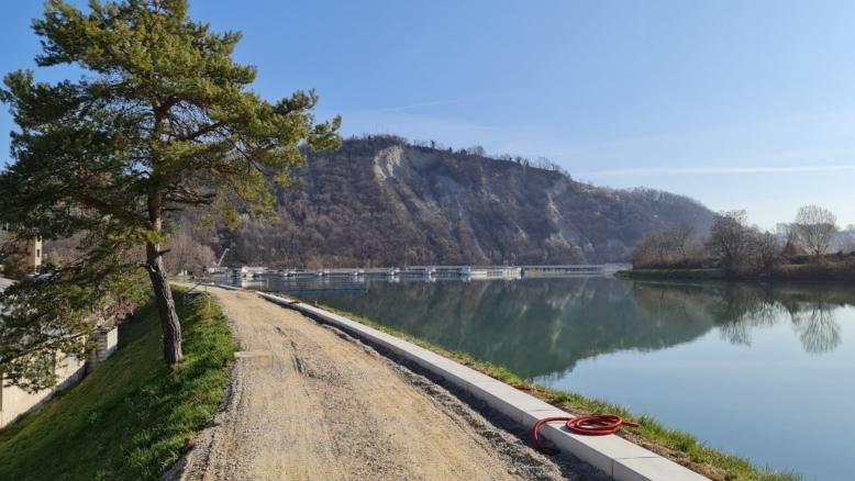 Gradi se najlepša kolesarska pot v Mariboru. Foto: Maribor 24.si